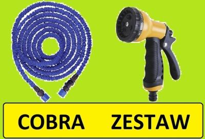 Ferro COBRA wąż ogrodowy rozciągliwy 8 - 23 ZESTAW Z PISTOLETEM