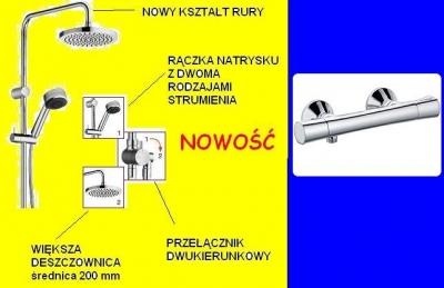 KLUDI ZENTA DUAL SHOWER 2S + bateria termostatyczna ZENTA