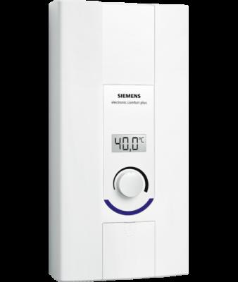 SIEMENS Electronic comfort plus Przepływowy ogrzewacz wody 21/24 kW  DE2124527