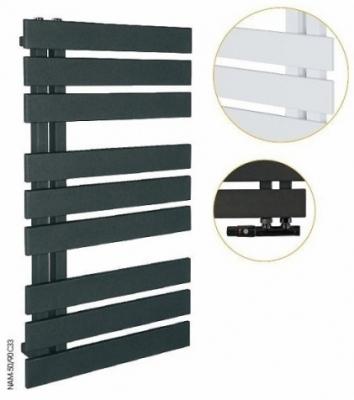 INSTAL PROJEKT NAMELESS grzejnik łazienkowy 500x1186 mm C33 BLACK STRUCTURE