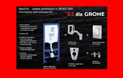 GROHE RAPID FRESH Stelaż WC 5w1 SKATE COSMOPOLITAN