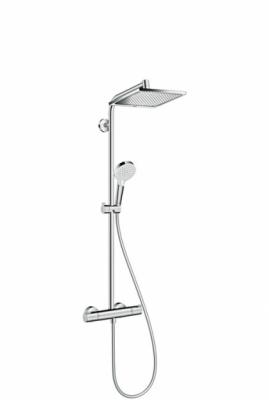 HANSGROHE Komplet prysznicowy Crometta E 240 1jet DESZCZOWNICA + TERMOSTAT